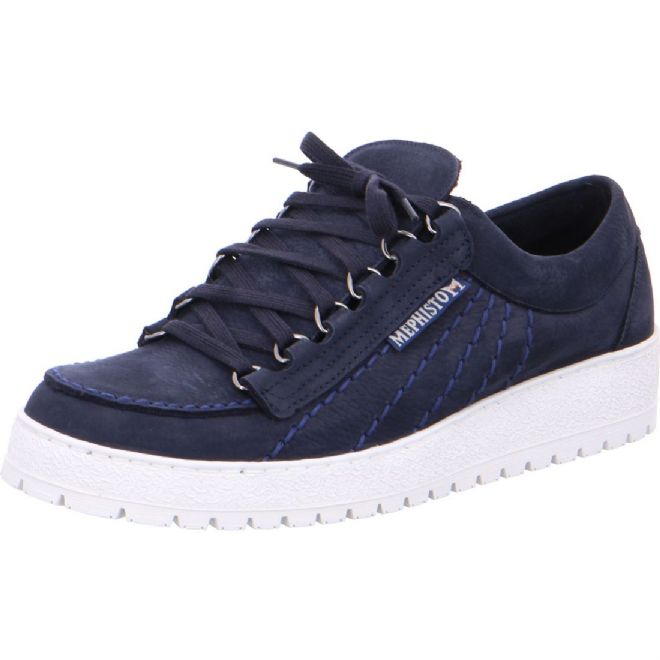 Mephisto 'RAINBOW' Navy Nubuck Leather